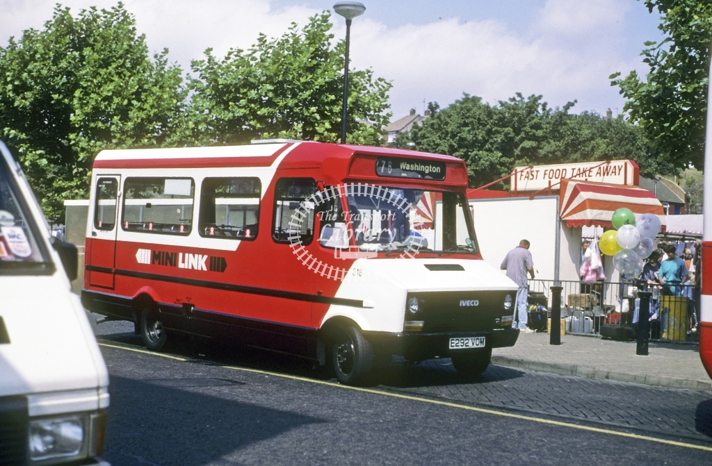 Northern General Fiat 49.10 318 E292VOM  at Chester le Street  in 1992 - Jul - Roy Marshall