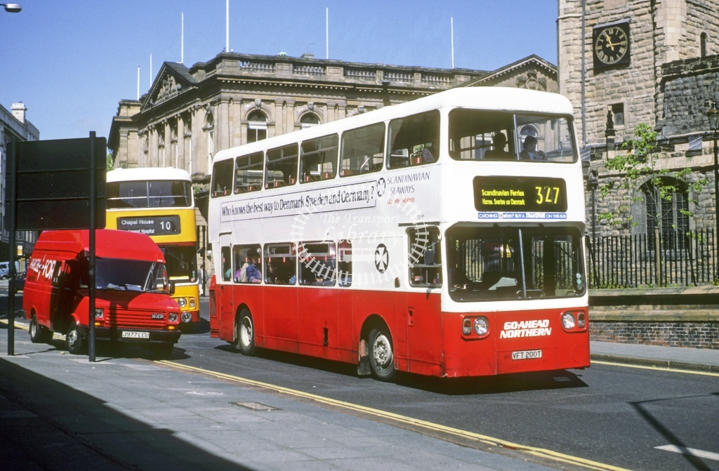 Northern General Leyland AN68 3700 VFT200T  at Newcastle  in 1993 - May - Roy Marshall
