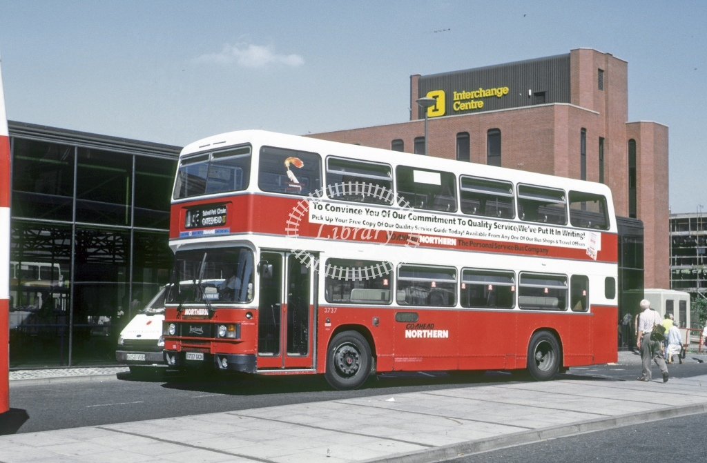 Northern General Leyland ONCL 3737 B737GCN  at Gateshead  in 1990 - Aug - Roy Marshall