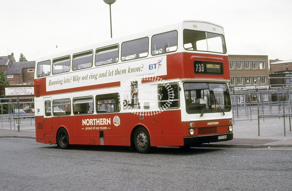 Northern General MCW DR102/55 3757 C757OCN  at Chester le Street  in 1993 - May - Roy Marshall