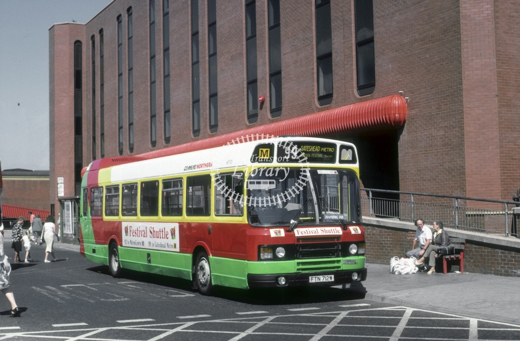 Northern General Leyland National 4712 FTN712W  at Gateshead  in 1990 - Aug - Roy Marshall