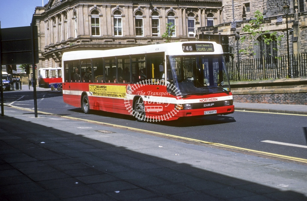 Northern General DAF SB220 4738 G738RTY  at Newcastle  in 1993 - May - Roy Marshall