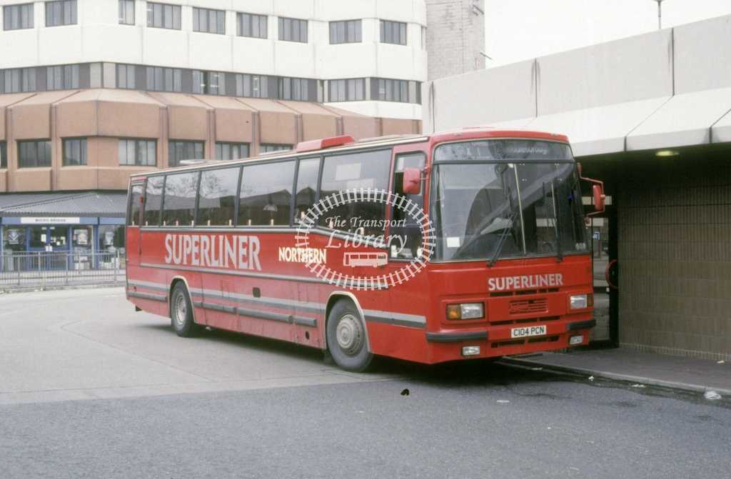 Northern General Leyland TRCTL 5104 C104PCN  at Middlesborough  in 1993 - May - Roy Marshall