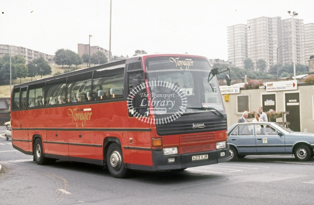 Northern General Leyland RT B50 7013 A213XJR  at Sheffield  in 1989 - Aug - Roy Marshall