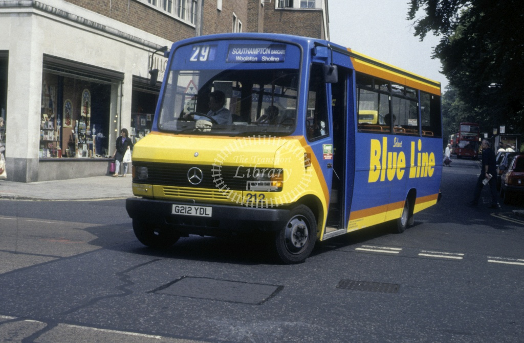 Solent Blue Line Mercedes 709D 212 G212YDL  at Southampton  in 1992 -  Jun  - Roy Marshall