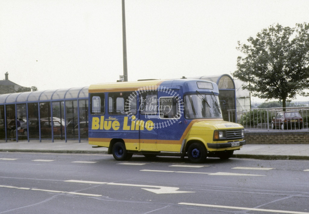 Solent Blue Line Ford Transit 228 C228XRU  at Southampton  in 1992 -  Jun  - Roy Marshall
