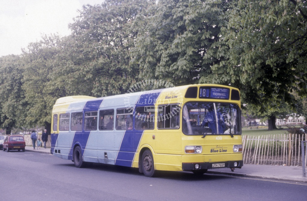 Solent Blue Line Leyland Nat 433 JTH760P  at Southampton  in 1990 -  Apr  - Roy Marshall