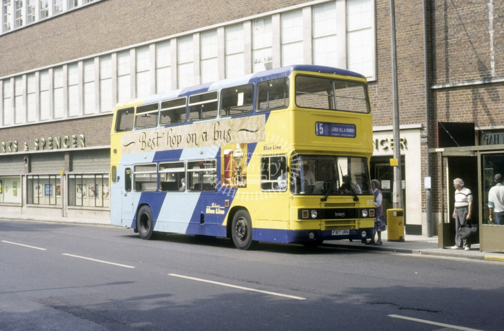 Solent Blue Line Leyland ONCL 817 F817URN  at Southampton  in 1992 -  Jun  - Roy Marshall