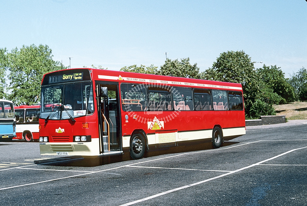 Trent Volvo B10M 52 M52PRA  at Derby  in 1995 - Aug - Roy Marshall