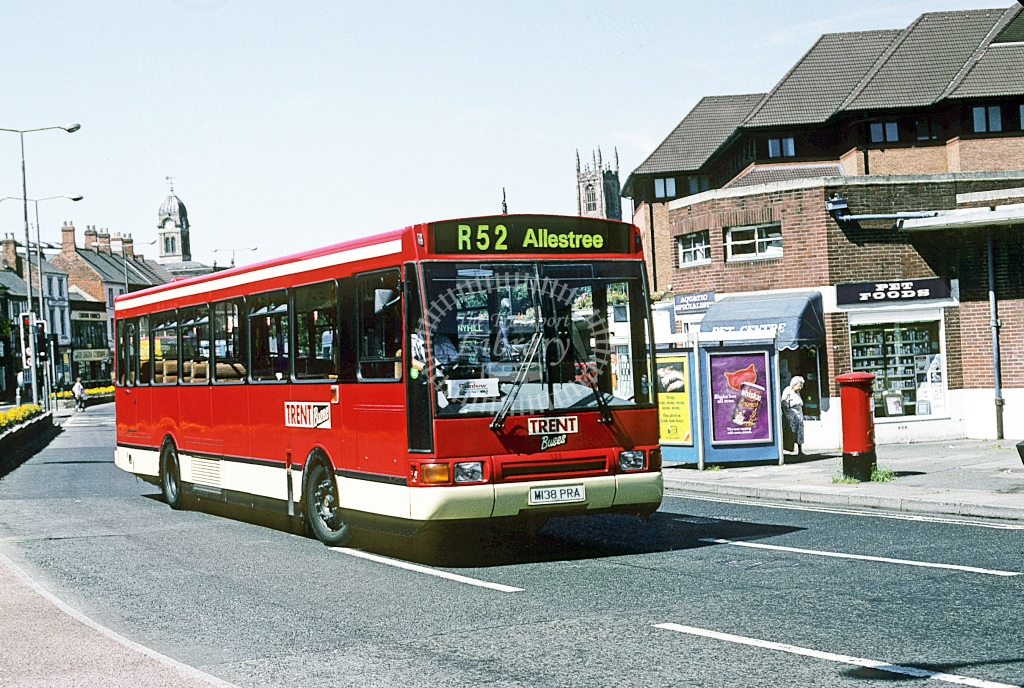 Trent Volvo B10M 138 M137PRA  at Derby  in 1995 - Aug - Roy Marshall