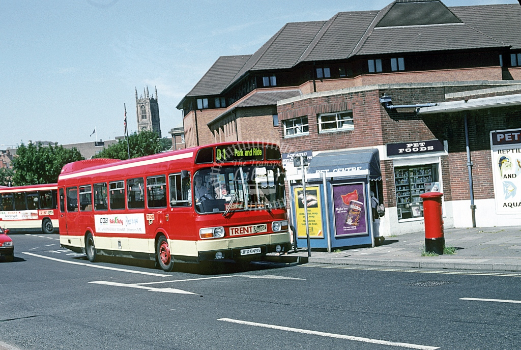 Trent Leyland National 545 UFX849S  at Derby  in 1995 - Aug - Roy Marshall