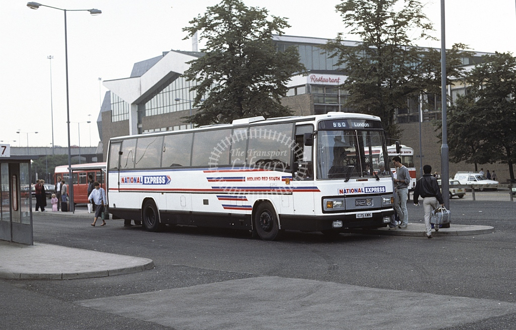 Midland Red South Leyland TRCTL 75 C75XWK  at Coventry  in 1986 -  Sep  - Roy Marshall