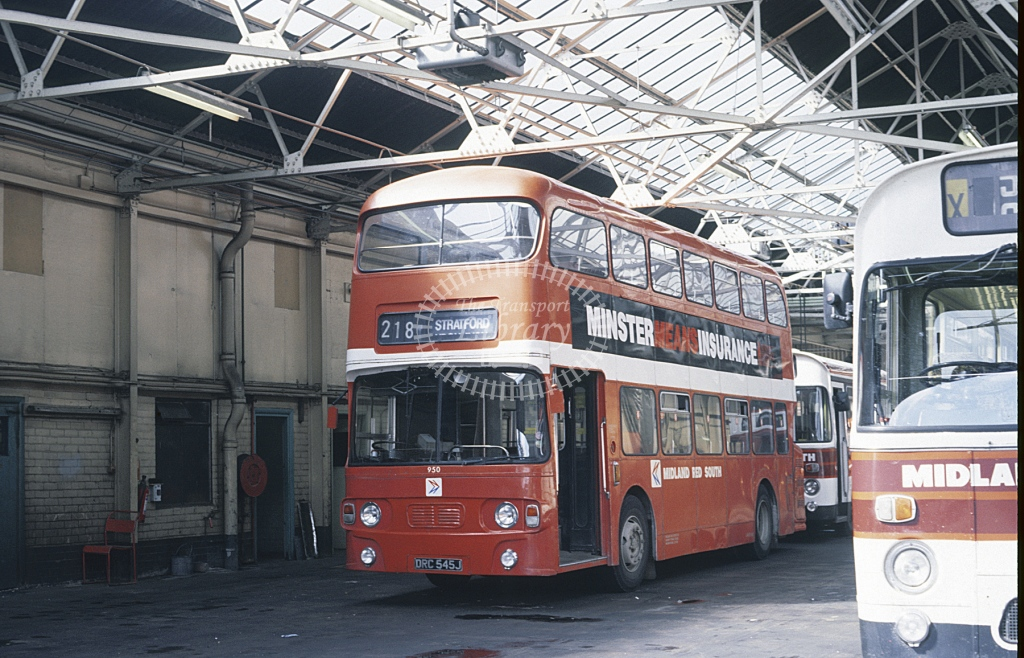 Midland Red South Daimler CRG6 95 DRC545J  at Stratford  in 1987 -  Sep  - Roy Marshall