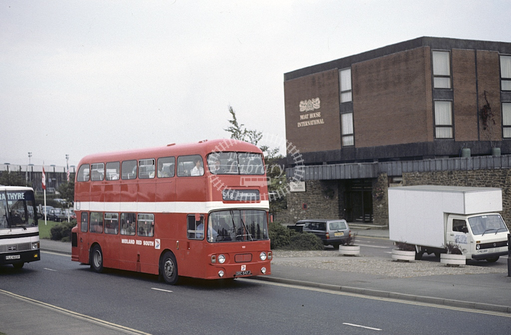 Midland Red South Daimler CRG6 951 DRC547J  at Stratford  in 1986 -  Sep  - Roy Marshall