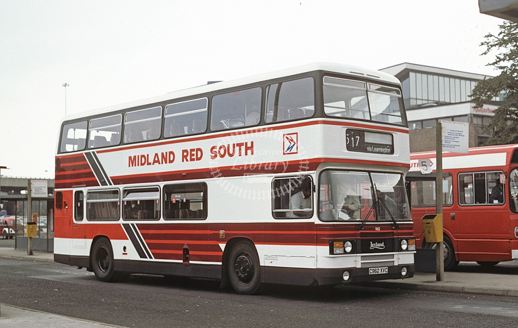 Midland Red South Leyland ONLXB 962 C962XVC  at Coventry  in 1986 -  Sep  - Roy Marshall