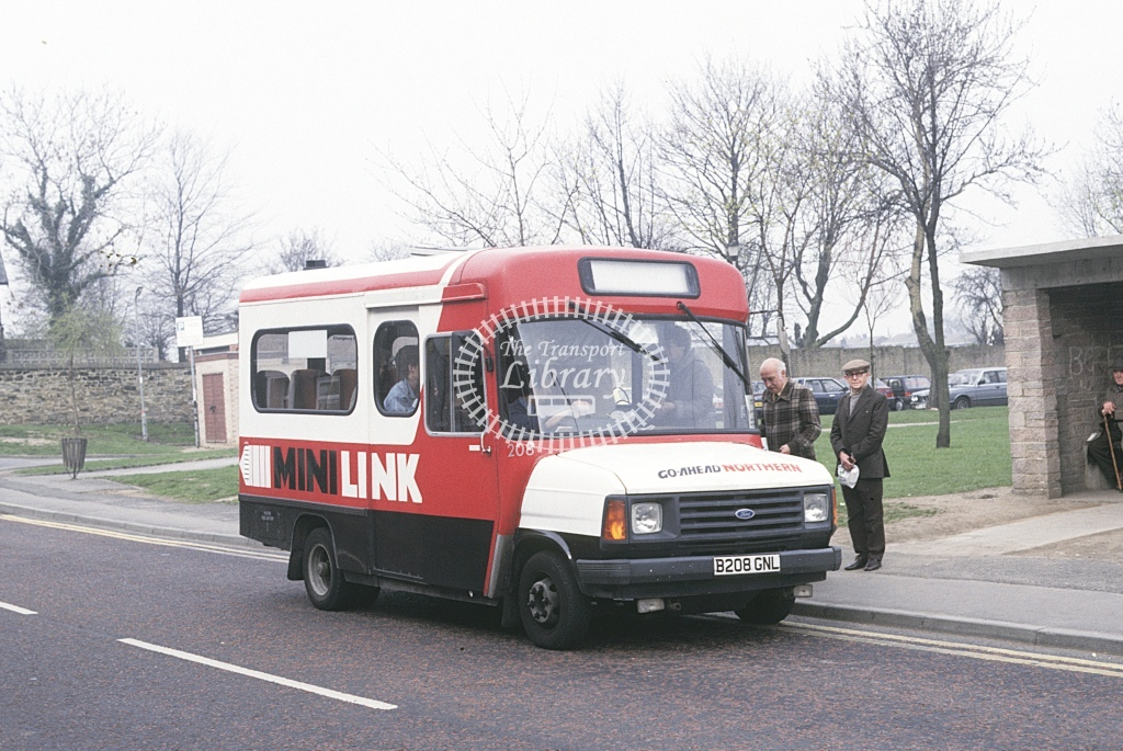 Northern General Ford Transit 208 B203GNL  at Hetton le Hole  in 1987 - Apr - Roy Marshall