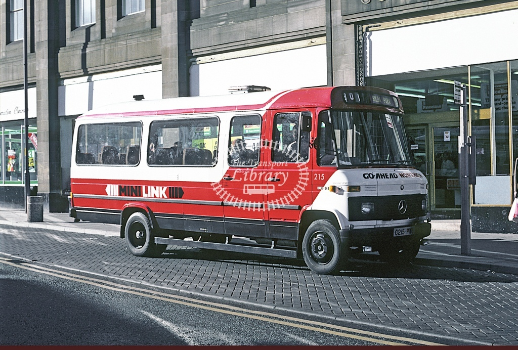 Northern General Mercedes L608D 215 C215PTY  at Chester le Street  in 1986 - Oct - Roy Marshall
