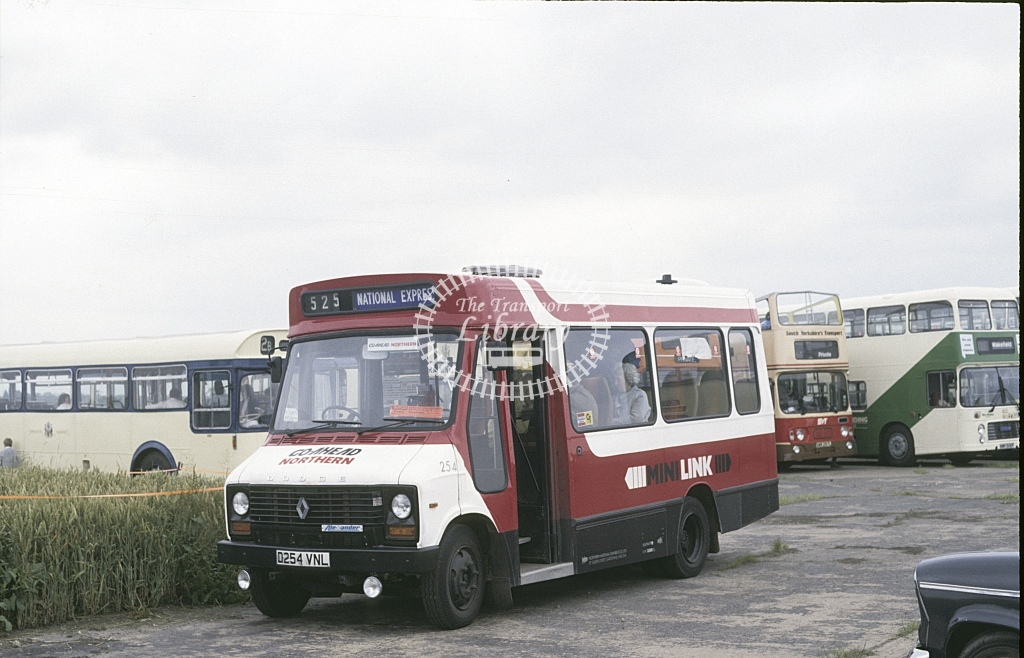Northern General Dodge S56 254 D254VNL  at Sandtoft Rally  in 1987 - Jul - Roy Marshall
