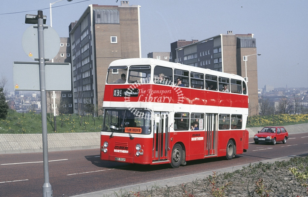 Northern General Leyland AN68 3302 MPT302P  at Gateshead  in 1987 - Apr - Roy Marshall