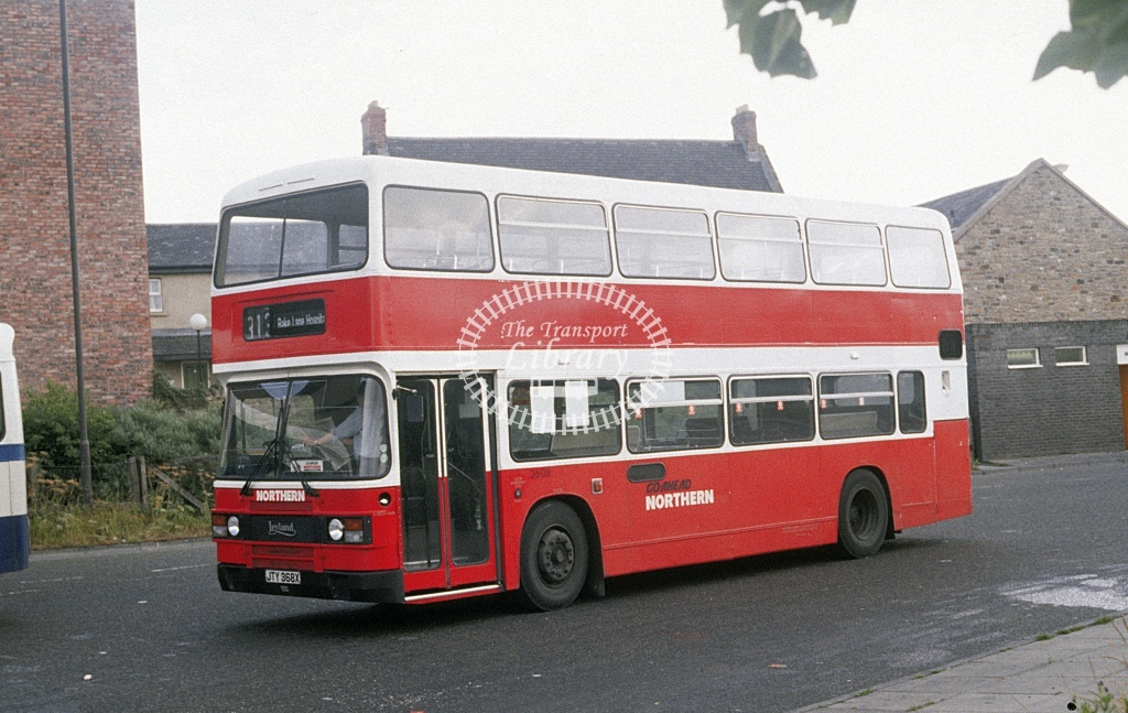 Northern General Leyland ONLXB 3608 JTY368X  at Four Lane East  in 1989 - Aug - Roy Marshall