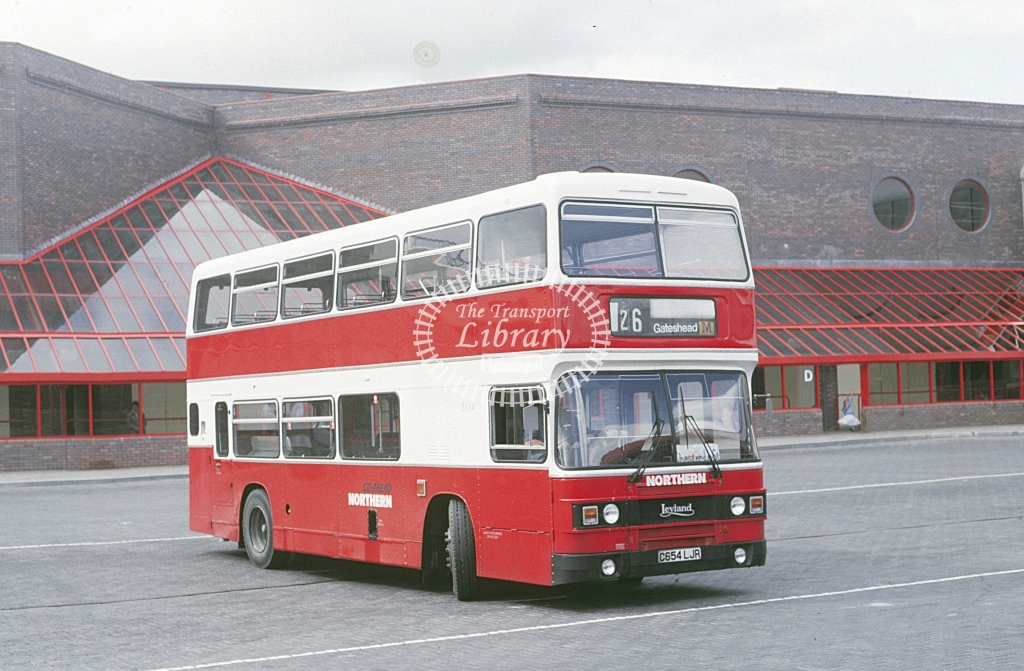 Northern General Leyland ONCL 3654 C654LJR  at Metro City  in 1987 -  - Roy Marshall