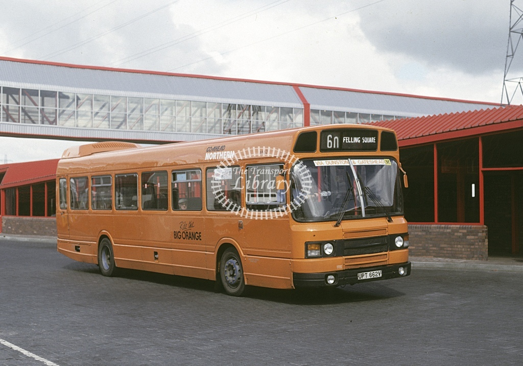 Northern General Leyland National 4662 UPT662V  at Metro City  in 1987 - Aug - Roy Marshall