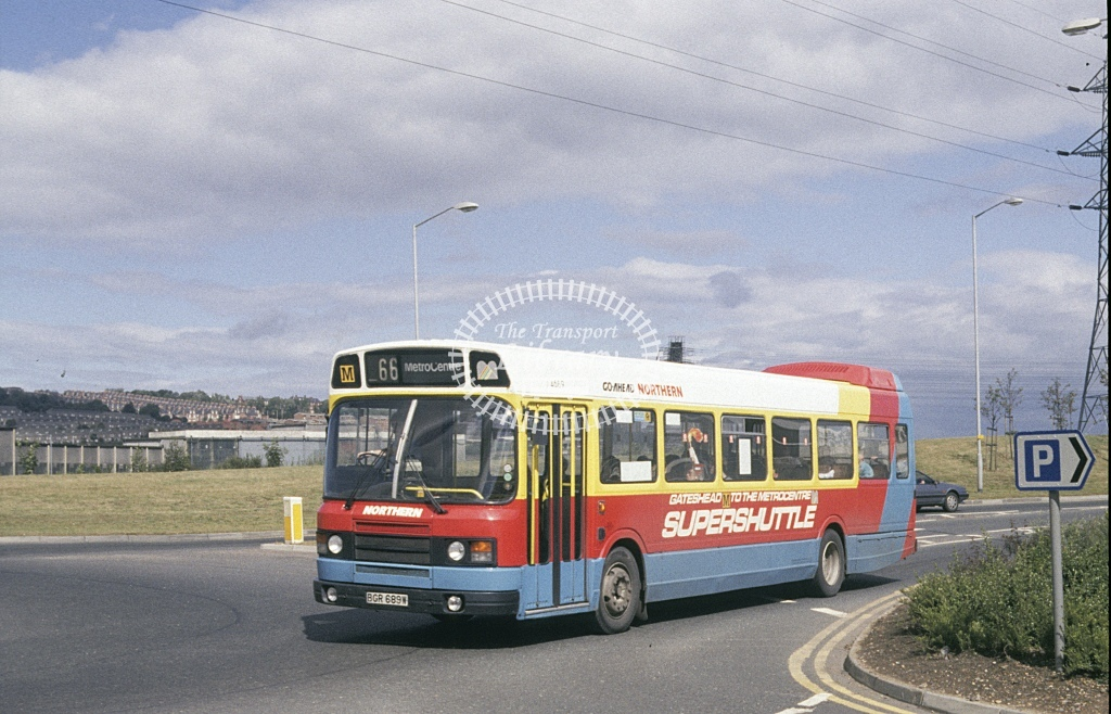 Northern General Leyland National 4689 BGR689W  at Metro City  in 1989 - Aug - Roy Marshall
