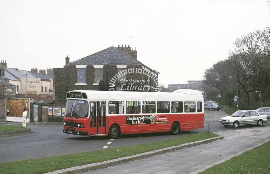 Northern General Leyland National 4707 FTN707W  at Sunderland  in 1987 - Apr - Roy Marshall