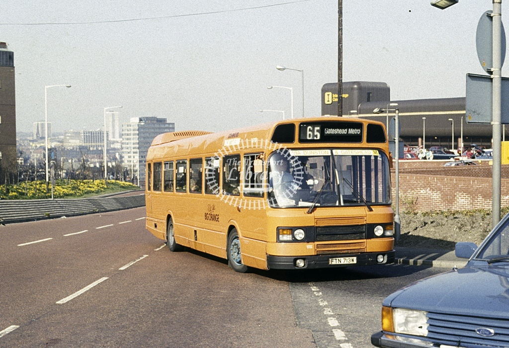 Northern General Leyland National 4713 FTN713W  at Gateshead  in 1988 - Apr - Roy Marshall