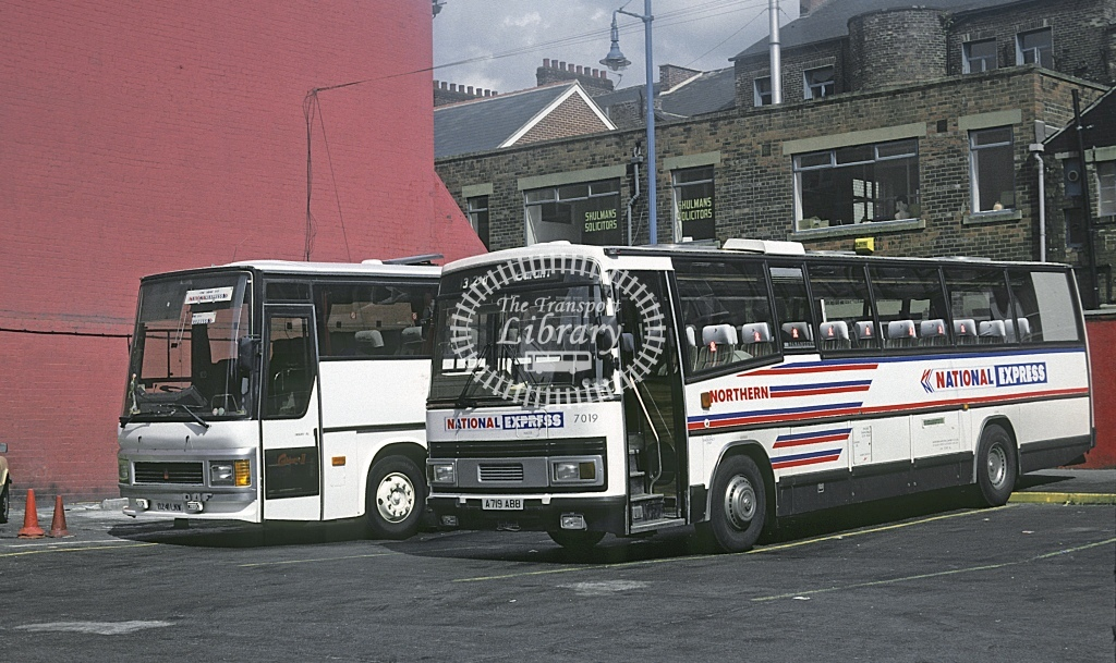 Northern General Leyland TRCTL 7019 A719ABB  at Leeds  in 1989 - May - Roy Marshall