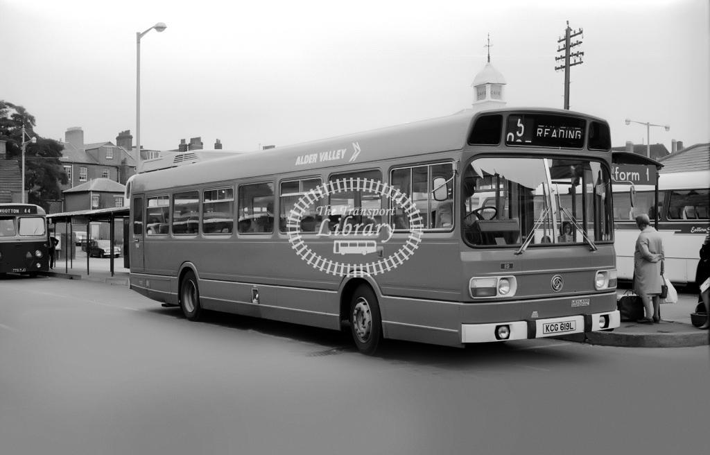 Alder Valley Leyland National 119 KCG619L at Oxford in Circa 1974 on route 5 - Vic Zealey