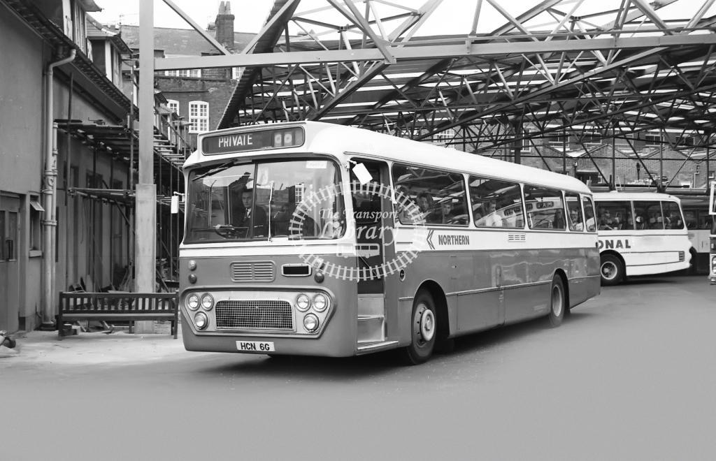 Northern General Leyland Leopard 2646 HCN6G at Victoria in Circa 1974 on route Unknown - Vic Zealey