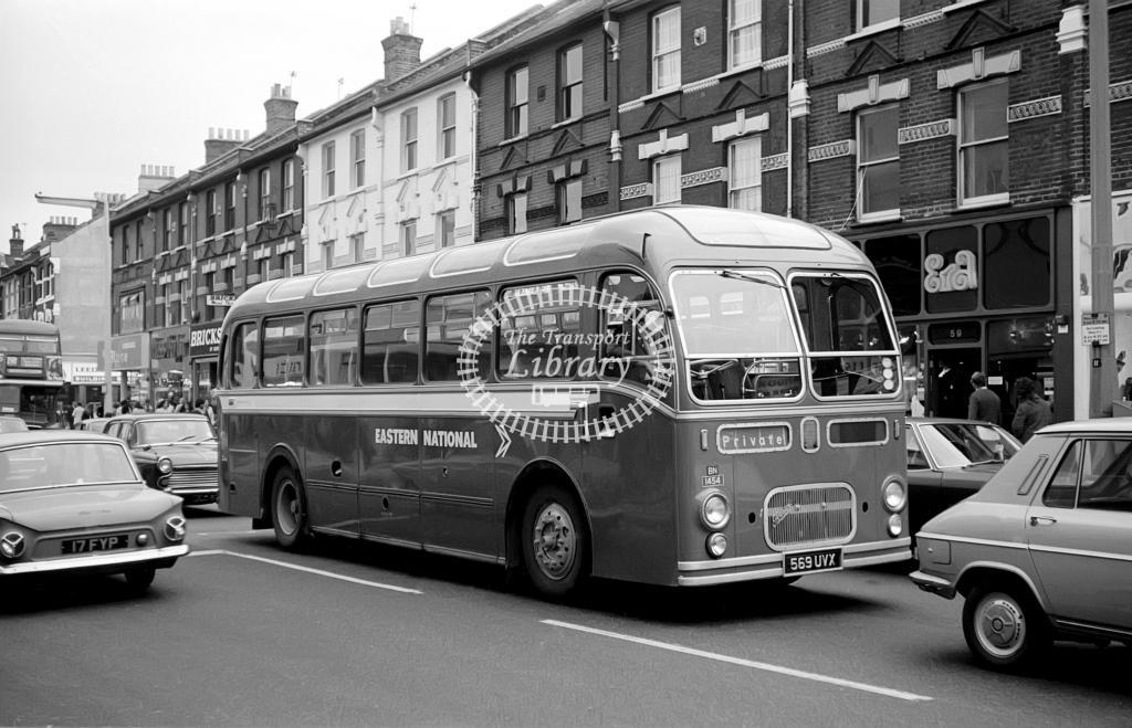 Eastern National Bristol MW 1454 569UVX at Unknown location in 1974 on route Unknown - Vic Zealey